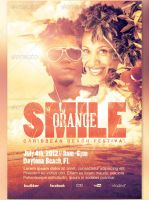 Smile Orange Event Flyer and CD Template by loswl