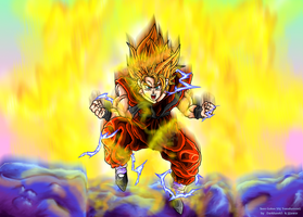 Teen Goten SSJ transf to SSJ2 by JJJawor