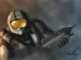 Halo Master Chief (Updated) by Nikitanikinoo