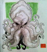 Cthulhu sketch LA MOLE march 2015 by mdavidct
