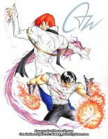 Iori and Kyo by dannysulca