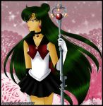 [Redraw] + sailor pluto + by amethyst-rose