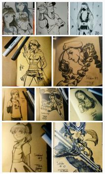 Inktober 2015 entries 1-10 by tamtu