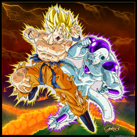 Goku VS Freeza by goku003