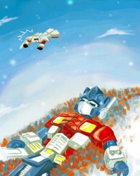 Megatron and Optimus Prime by mmmmmr
