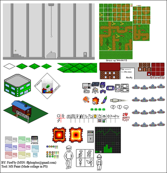 Mixed Pixel Art -LOTS- by FireyFly