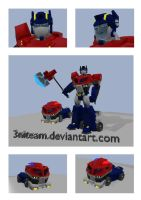 tf animated optimus prime 3d by 3niteam