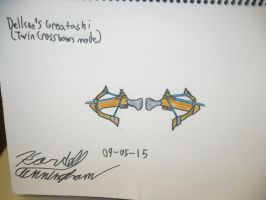 Greatashi: twin crossbow mode by Dell-AD-productions