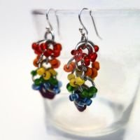 LGBT Pride Chainmaille Earrings by Rosie-Periannath