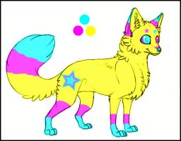 Pansexual Pride/Rave Fox Auction ((CLOSED)) by xxsunslashxx