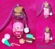 Ice Cream Miniature Bottle Charm by TashaAkaTachi