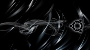 Ubuntu Black Satin Smoke Wallpaper by Jengo33