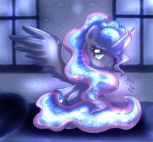 MLP FIM - Glowing Princess Luna by Joakaha
