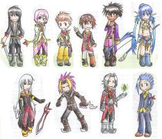 chibis of vesperia by Ali-Moonlight