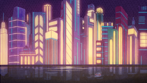 Cityscape CG by Youkos