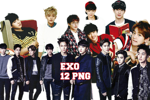 EXO PNG Pack {Season Greetings 2015 Part. 2} by kamjong-kai