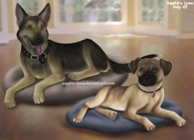 Commission - More dogs by sapphireluna