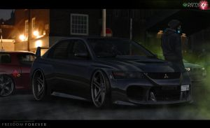 Mitsubishi Lancer Evolution - Freedom Forever by DemoDesign