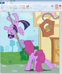 Twilight Learn flying in paint by sallycars