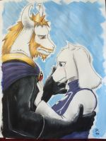 Sorrow (Asgore and Toriel) by Flyingshadow451
