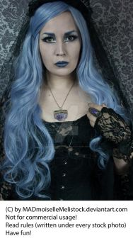 Lavender Goth Stock 003 by MADmoiselleMeliStock