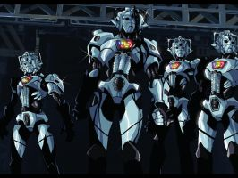 Doctor Who anime - Cybermen by MightyOtaking