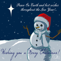 Merry Christmas Snowman by Veester