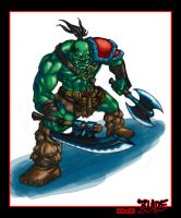 Warcraft - Orc grunt color by Blade-Fury
