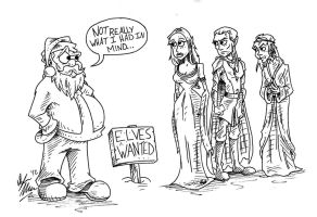 Elves Wanted by OuthouseCartoons