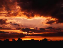 Sunset Over Bielefeld 4 by ErinM2000