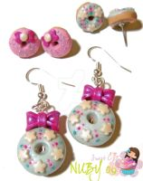 Winter Donut Earrings by colourful-blossom