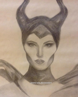Maleficent Pencil Fanart by mericorn
