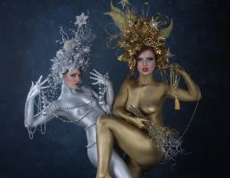 Silver and gold by cgiphoto