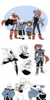 Undertale Art Dump 1 by YAMsgarden