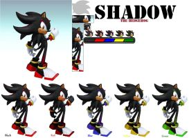 Shadow's SSB4 Colors by ZaneTheDragon