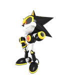 Shard the Metal/Mecha Sonic in 3D StH#245 pose by Yarcaz