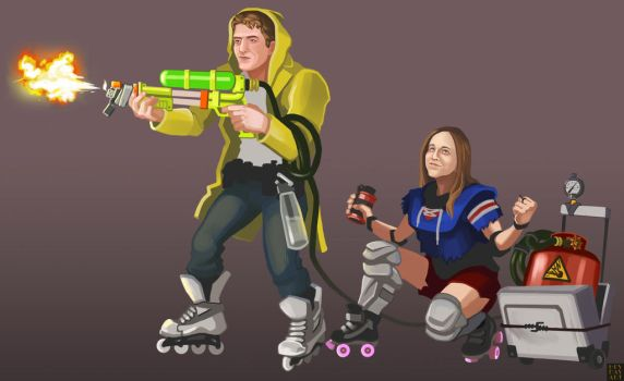 Battle for Brooklyn - James and Yelena by napalmzonde