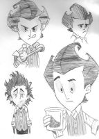 Wilson Again - Don't Starve by Artemis-Archeress