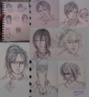 Attack on Titan Sketches :) by Doe-jo