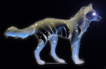 Galaxy Wolf Edition: Adoptable 2 by vanillaadog