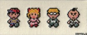 EarthBound Cross-stitch by toader