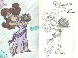 Another Before and After drawing... by DisneyFreak010