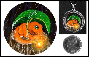 Charmander Necklace - One Rainy Day by iceSylum