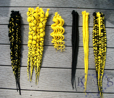 Jolteon Synthetic Dreads by Burnhym1