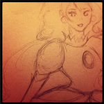 Princess Peach Sketch by Monii--Chan