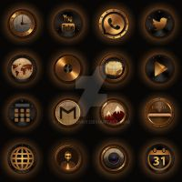 Steampunk Icons by ThemeJunky