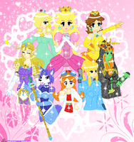 Nintendian Princesses of Heart by Blue-and-Dog