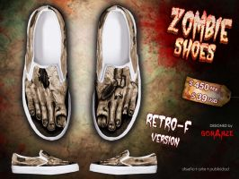 Retro- F Version- ZOMBIE shoes by corArze