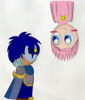 Human Kirby and Meta-Knight by PuccaFanGirl