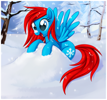 Playing In The Snow by Centchi